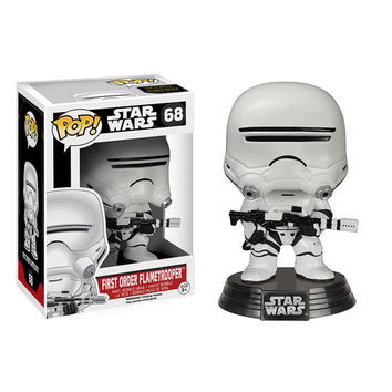 First Order Flametrooper Pop Star Wars Force Awakens Vinyl Figure