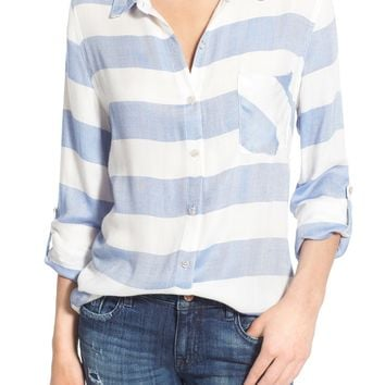 Thread & Supply 'Del Mar' Stripe Button Front Shirt | Nordstrom