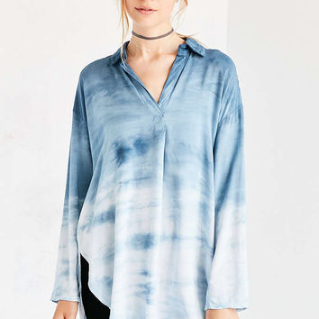 Silence + Noise Bridgette Dip-Dye Popover Shirt - Urban Outfitters