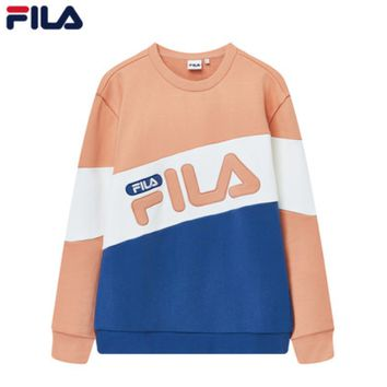 FILA 2019 early spring new sports and leisure knitted pullover sweater pink