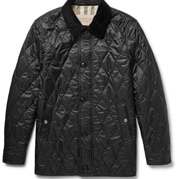 Burberry Brit - Gransworth Leather and Corduroy-Trimmed Quilted Shell Jacket