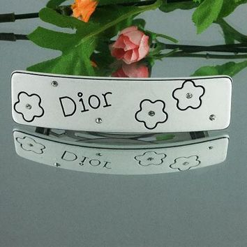 Dior Women Fashion Pattern Hairpin Barrette Hair Clip