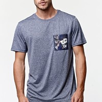 On The Byas Holden Pocket Active Crew T-Shirt - Mens Tee - Blue