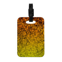 "Ebi Emporium ""Romance Me in Tangerine"" Gold Glitter Decorative Luggage Tag"