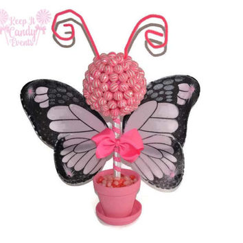 Customizable Butterfly Lollipop Topiary