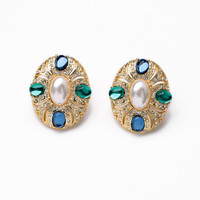 Colored Clip Earrings