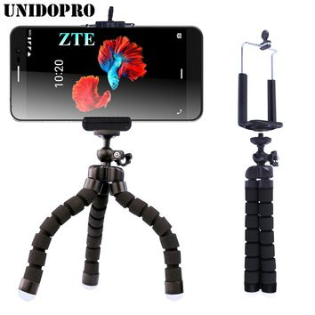 Flexible Octopus Tripod Head Bracket Phone Camera Holder Stand Mount for ZTE Blade L7 Spark A602 A612 A520 V8 Lite Phone Holders