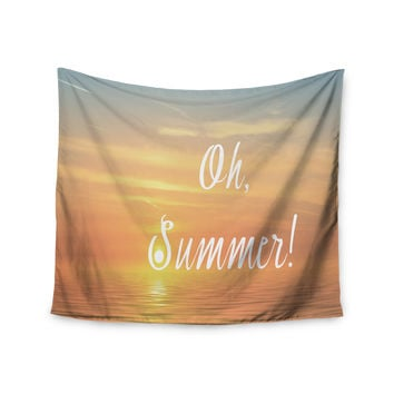 "Alison Coxon ""Oh, Summer!"" Blue Coastal Wall Tapestry"