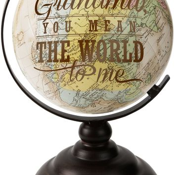 Grandma you mean the World to me Decorative Desktop Globe