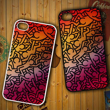 Keith Haring Colors Go Back Z1290 LG G2 G3, Nexus 4 5, Xperia Z2, iPhone 4S 5S 5C 6 6 Plus, iPod 4 5 Case
