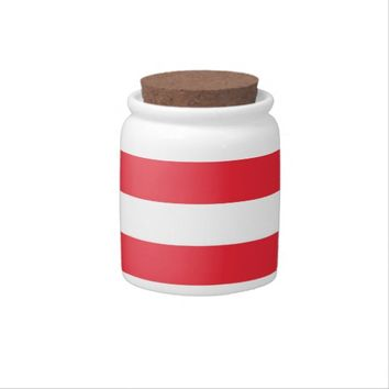 Austrian Flag Candy Jar