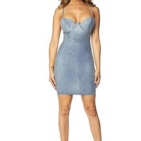 She's Got It Denim Bustier Dress