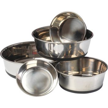 House of Paws HP609XL Stainless Steel Dog Bowl with Silicon Base (XL)