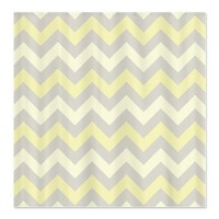 Yellow and Grey ZigZag pattern Shower Curtain> ZigZag> Zandiepants Home Decor