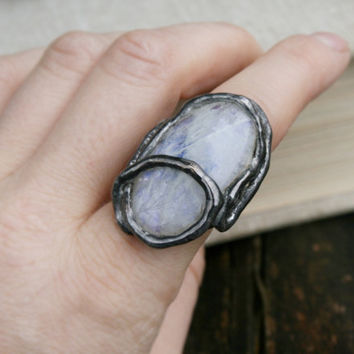 moonstone ring, statement ring elegant ring, nostalgic ring huge ring, romantic ring, handmade ring, adjustment ring, OOAK, bohemian jewelry