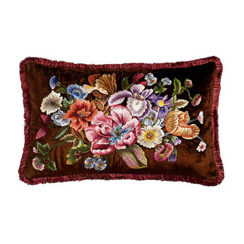 "Dutch Floral Pillow, 26"" x 16"" - Jay Strongwater"