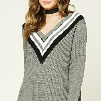 Stripe Purl Knit Sweater