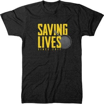 Pan Saving Lives Mens Modern Fit Tri-blend T-shirt