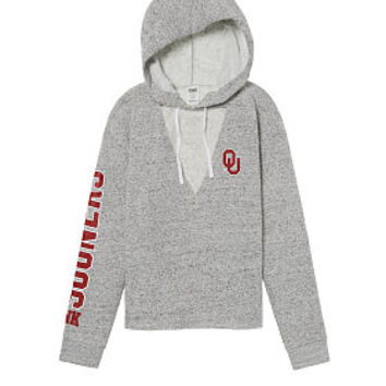 University of Oklahoma Choker Neck Pullover Hoodie - PINK - Victoria's Secret