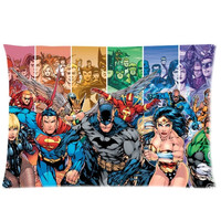 Justice League Superheros Superman Batman Spiderman Green Lantern 2 Sides 20X30 Inch Zippered Soft Cotton Pillow Covers Decorative Cushion Covers