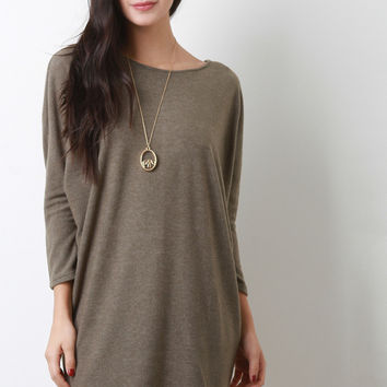Fleecey Dolman Tunic Dress