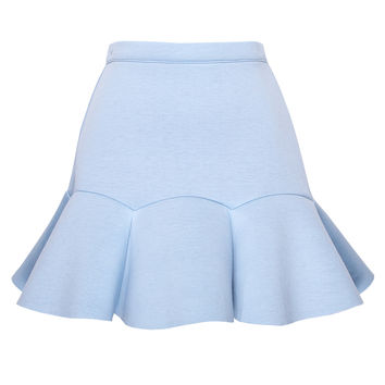 Mermaid Baby Blue Mini Skirt