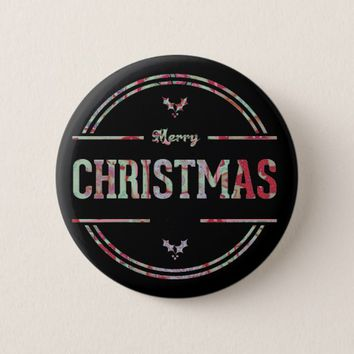 Merry Christmas Greeting Button
