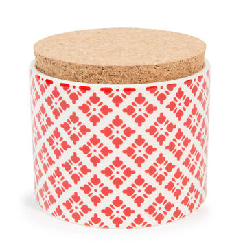 SNOW earthenware pot, red, H 9 cm | Maisons du Monde