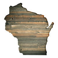 Wisconsin Faux Wooden wall decal