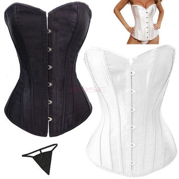 2014 New Elastic New Sexy Lace Up Women Corset Top Bustier Faux Leather Corsets Body Shaper SV002734 = 4804878660