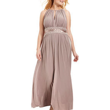 R&M Richards Plus Size Dress, Sleeveless Beaded Evening Gown - Plus Size Dresses - Plus Sizes - Macy's