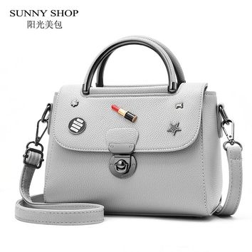 SUNNY SHOP Fashion Purses And Handbags Small Over The Shoulder Bag For Women Small Tote Bag Wth Zipper Lipstick Reviet carry Bag