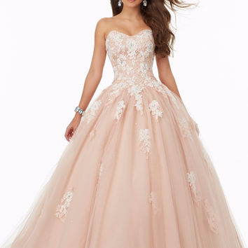 Champagne Black Nude Ball Gown 2017 Long Prom Dresses Sweetheart Lace Appliques Corset Back Girls Formal Prom Gowns New Arrival