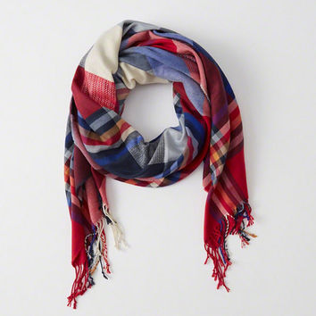 Womens Patchwork Blanket Scarf | Womens Accessories & Jewelry | Abercrombie.com