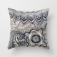 Four sides of a box (ii) Throw Pillow by Condor