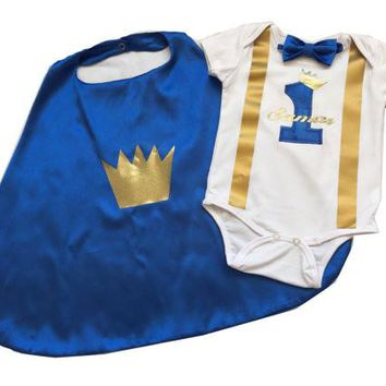 Little Prince Birthday Cake Smash Outfit