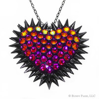Volcano Pavèd & Spiked Heart Necklace // made with Swarovski Elements