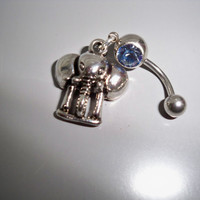 jungle elephant belly button ring