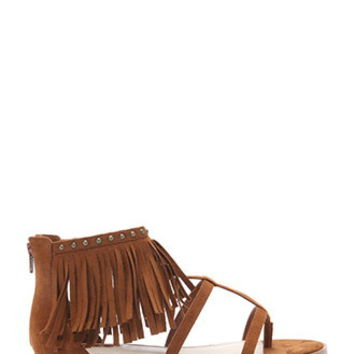 Fringe Caged Sandals