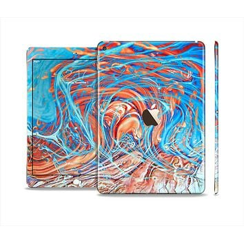 The Vibrant Color Oil Swirls Skin Set for the Apple iPad Pro