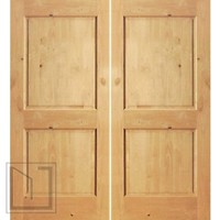 S/W-97 Interior Knotty Alder 2 Panel Double Door