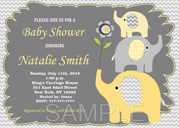 Elephant baby shower invitation baby from diymyparty on etsy filmwisefo Images