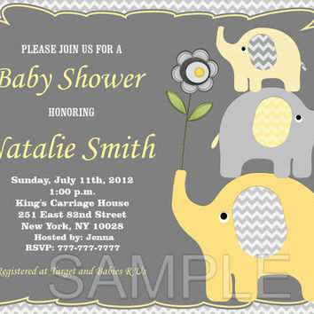 Elephant baby shower invitation baby from diymyparty on etsy elephant baby shower invitation baby shower invitations printable baby shower invite filmwisefo