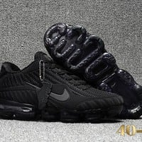 KUYOU N356 Nike Air Vapormax 2018 Flyknit Sports Casual Mid Running Shoes Black