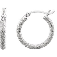 Sterling Silver Space Glitter Hoop Earrings