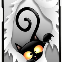 GrabYourDesign - Case for Samsung Galaxy S7 Black Cat Fun and Naughty - by BluedarkArt