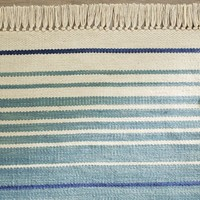 Dennis Stripe Recycled Yarn Indoor/Outdoor Rug - Blue