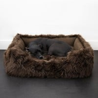 Faux Fur Shag Lounger™ Luxury Dog Bed