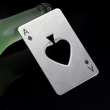 Creative Poker Card Beer Bottle Opener Steel
