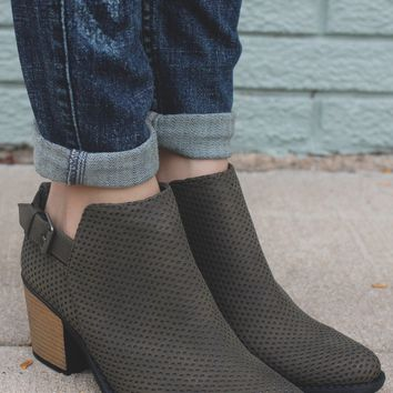 Spellbound Booties - Olive
